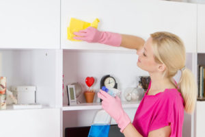 Cleaning Kitchen Cabinet